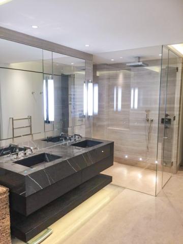 Granite double bathroom sink unit installation