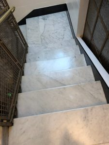 Marble Stairs polished and sealed offices in London