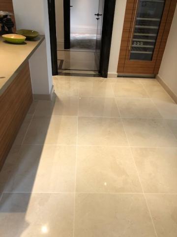 Recoloured Marble kitchen floor