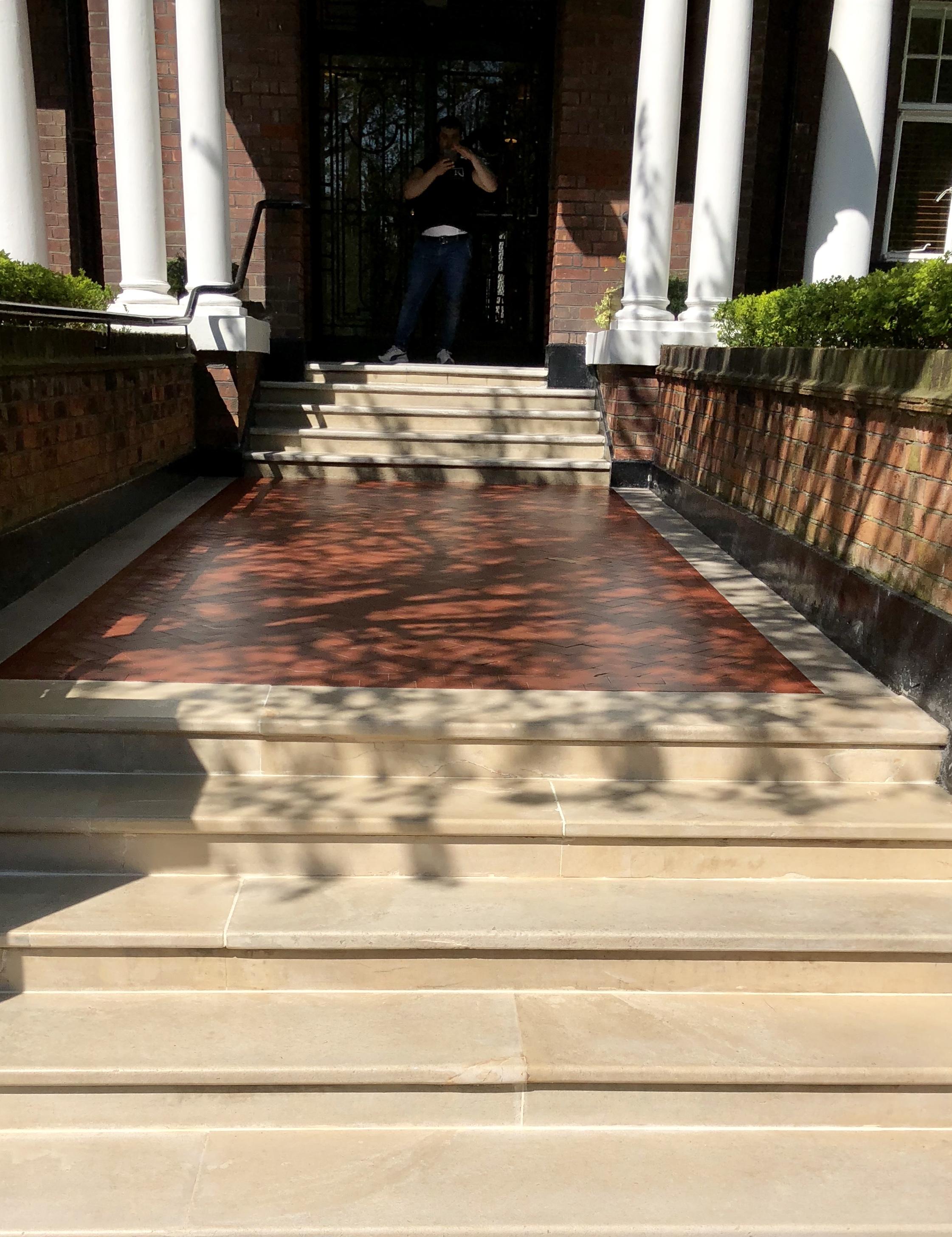 marble steps after renovation